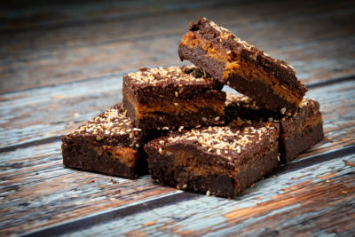 Kala King vegan coconut and sesame brownies