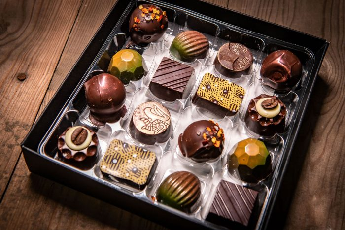 Selection box of 16 Handmade Dark Chocolates