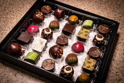 Selection box of 25 Handmade Dark Chocolates
