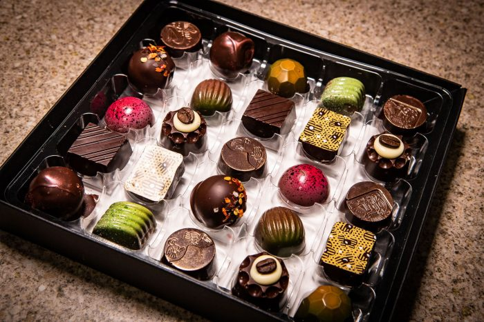 Selection box of 25 Handmade Dark Chocolates