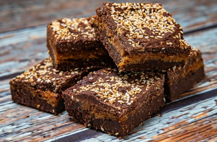 Vegan Coconut Sesame Brownie