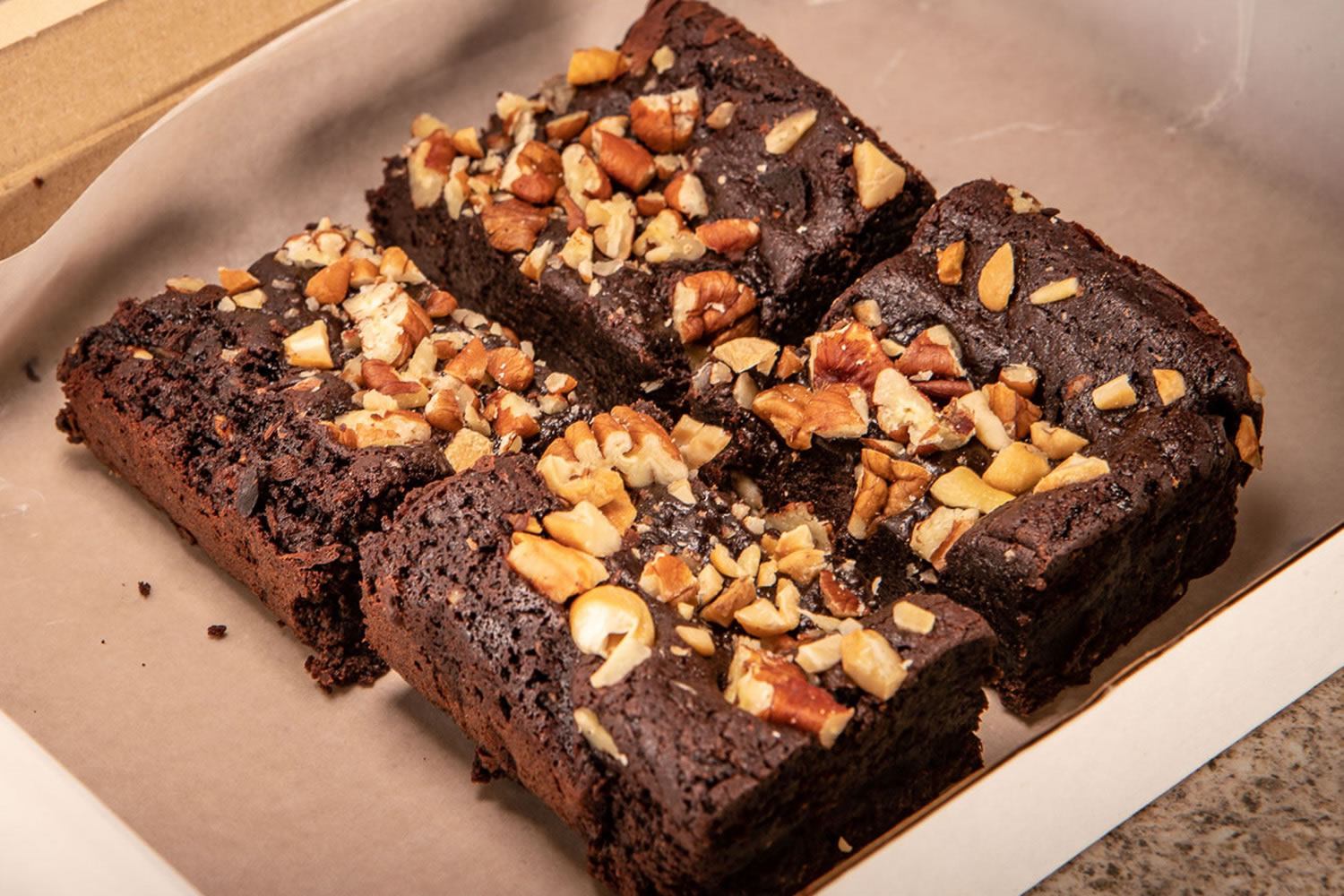 Vegan Mixed Nuts Brownie
