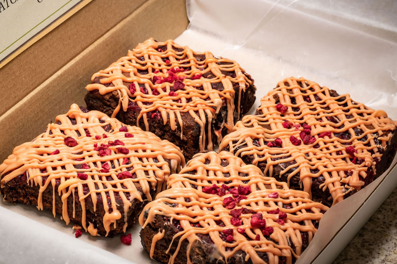 raspberry gluten free brownies
